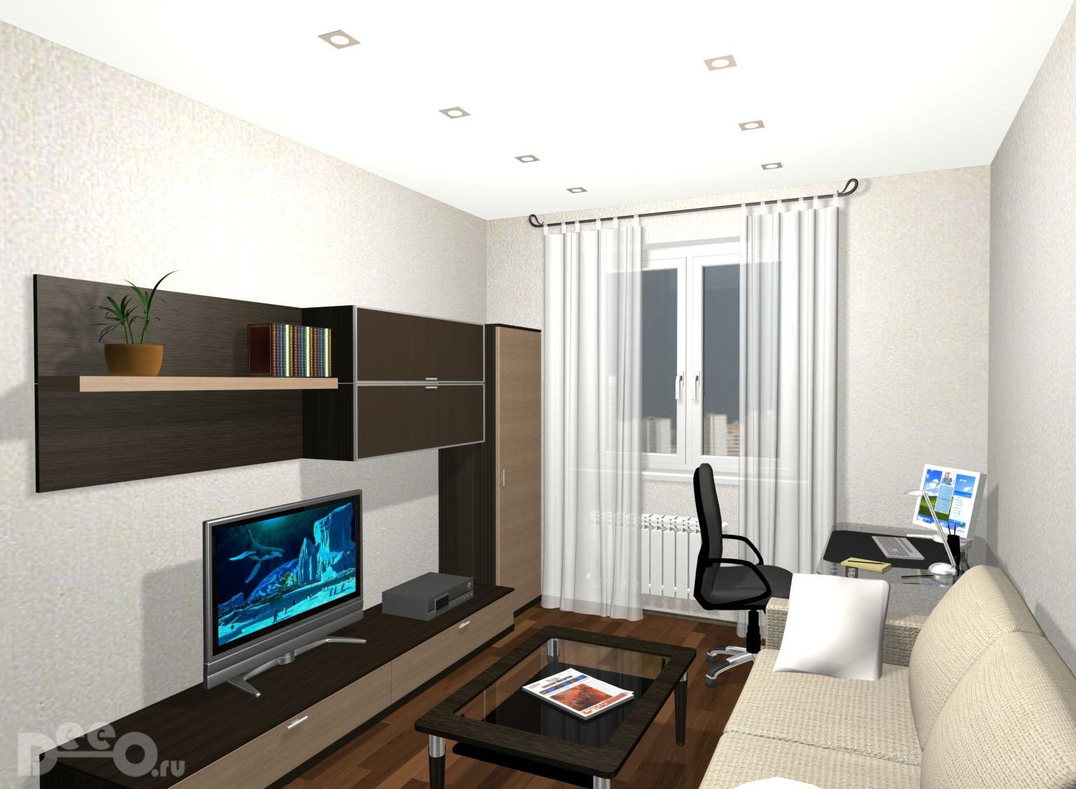 Интерьер гостиной 3 на 5 метров фото в пастельных тонах